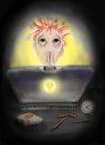 hacker stock de ilustración