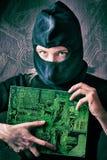 hacker royaltyfri bild