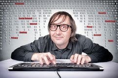 Hacker in action Stock Photography
