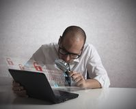Hacker Analyzing Software Stock Image