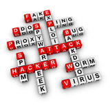 Hacker attack. (from crossword series Stock Photo