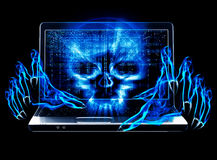 Hacker attack concept Royalty Free Stock Photos
