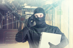 Hacker attack and data security concept Stock Images