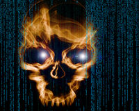 Hacker attack digital background Stock Photography
