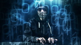 Hacker attack new technology abstract background stock video footage