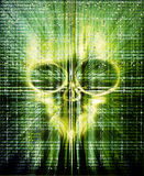hacker attak digital illustration with skull Royalty Free Stock Images