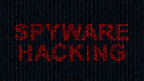 Hacker blocking computer while blue code characters in dark web. computer virus. Hacker blocking a computer while blue code characters in a dark web. binary stock footage