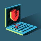 Hacker bricht in Computer ein Lizenzfreies Stockbild
