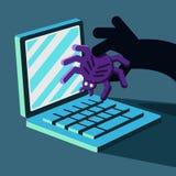 Hacker bricht in Computer ein Lizenzfreie Stockbilder