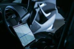 Hacker in a Car Stock Image