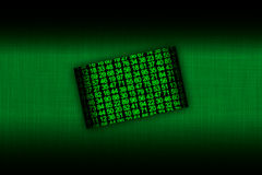 Hacker card with a green numbers Royalty Free Stock Photography