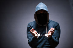 The hacker caught for this crimes Stock Images