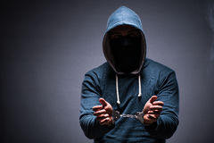 The hacker caught for this crimes Stock Photos