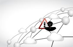 Hacker cloud network concept Royalty Free Stock Photo