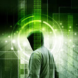 Hacker. Computer hacker or Cyber attack concept background Stock Photo