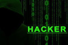 Hacker. Computer hacker or Cyber attack concept background Royalty Free Stock Images