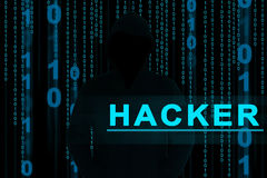 Hacker. Computer hacker or Cyber attack concept background Stock Photography