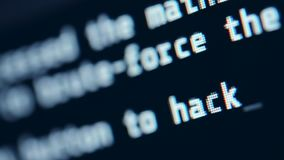 Hacker Screen Closeup. Hacking Language Concept. Hacker Computer Screen Closeup. Hacking in the Progress. Computer and Communication stock video
