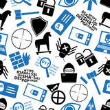 Hacker and computer security theme icons seamless pattern eps10 Royalty Free Stock Image