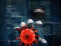 Hacker and computer virus - concept.  Stock Photo