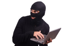 Hacker with computer Stock Image