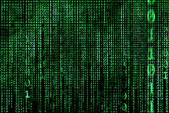 Hacker concept. computer binary codes.Green text Stock Images