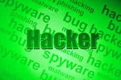 Hacker concept graphic Stock Image