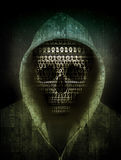 Hacker concept. Skull hacker concept abstract illustration Royalty Free Stock Images