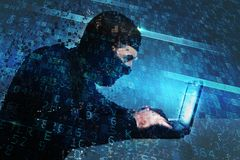 Hacker creates a backdoor access on a computer. Concept of internet security. Hacker creates a backdoor illegal access on a computer. Concept of internet stock photo