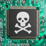 Hacker cyber crime piracy identity theft concept