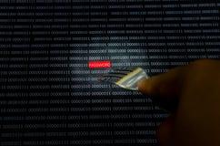Hacker da senha Imagens de Stock