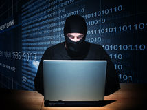 Hacker on duty Royalty Free Stock Photos
