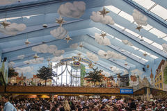 Hacker Festzelt at Oktoberfest in Munich, Germany, 2015 Royalty Free Stock Image