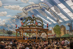 Hacker Festzelt at Oktoberfest in Munich, Germany, 2015 Royalty Free Stock Images