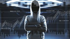 Hacking and theft concept stock photos