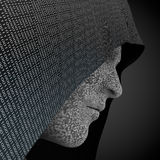 Hacker hooded. 3d rendering: hacker hooded or digital person Royalty Free Stock Photography