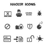 Hacker icons Royalty Free Stock Photo