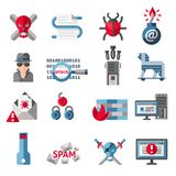 Hacker icons set Stock Photography
