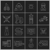 Hacker icons set outline Royalty Free Stock Photo