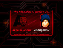 Hacker ID card Royalty Free Stock Images