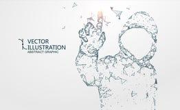 The hacker image of network composition, illustration. royalty free illustration