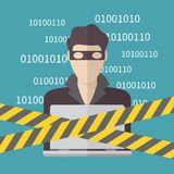Hacker, Internet Security concept stock images