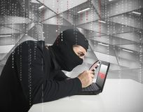 Hacker and password royalty free stock images