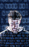 Hacker with looking directly to the camera Royalty Free Stock Photo