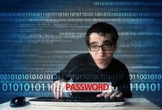 Hacker novo do totó que rouba a senha Fotografia de Stock Royalty Free