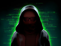 Hacker over a code background Royalty Free Stock Photo