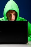 Hacker portrait Royalty Free Stock Photos