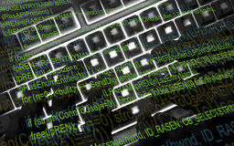 hacker praca Fotografia Stock