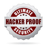 Hacker proof security icon. On white background Royalty Free Stock Photos