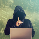 Hacker przy pracą Fotografia Royalty Free